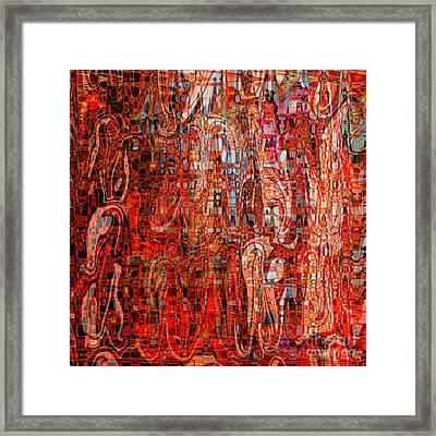 Warm Meets Cool - Abstract Art Framed Print by Carol Groenen