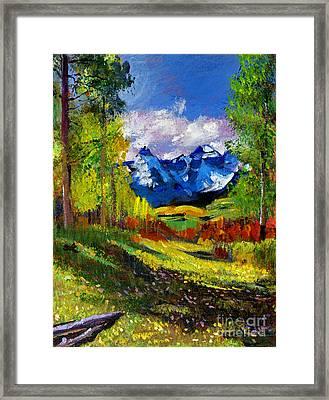 Warm Mountain Valley Plein Air Framed Print