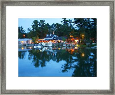 Warm Night's Harbor Framed Print