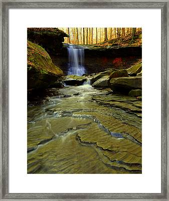 Warm Sky Cool Water Framed Print by Frozen in Time Fine Art Photography