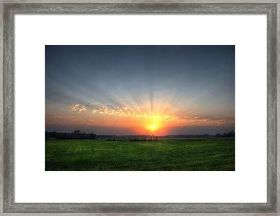 Warm Summer Sunset Framed Print by Brook Burling