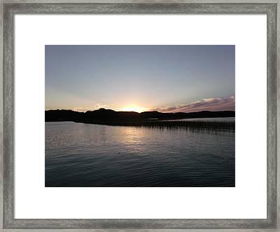 Warm Sunshine Lake Framed Print by Brian  Maloney