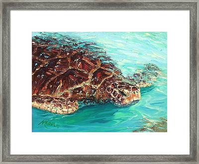 Warm Waters Framed Print by Marie Green