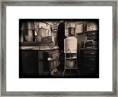 Warm Yourself A Bit Framed Print by Cindy Nunn