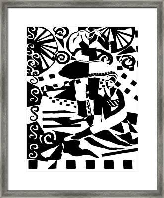 Warming Up - Dance I Framed Print by Forartsake Studio