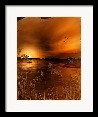Brown Toned Art Digital Art Framed Prints