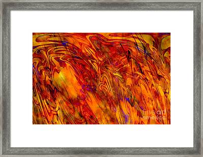Warmth And Charm - Abstract Art Framed Print