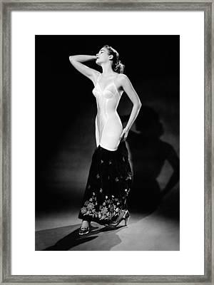 Warner Corset Provided Full Body Framed Print by Everett