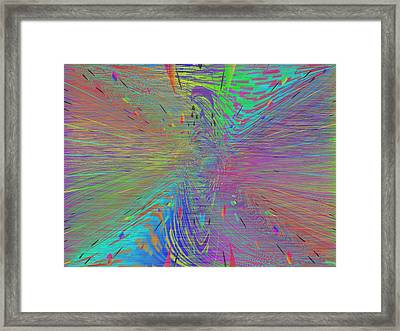 Warp Of The Rainbow Framed Print by Tim Allen