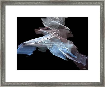Framed Print featuring the digital art Warp Speed by John Pangia