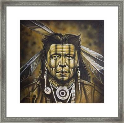 Warpath Framed Print by Timothy Scoggins