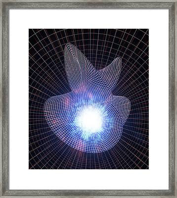 Warped Space-time Framed Print