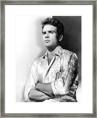 Warren Beatty, 1962 Framed Print by Everett