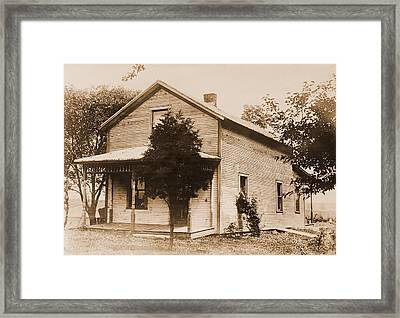 Warren G. Harding 1865-1923, Birthplace Framed Print by Everett