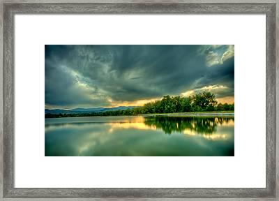 Warren Lake At Sunset Framed Print by Anthony Doudt