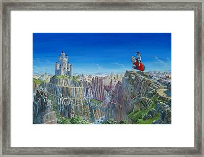 Warrior On The Striding Edge Framed Print