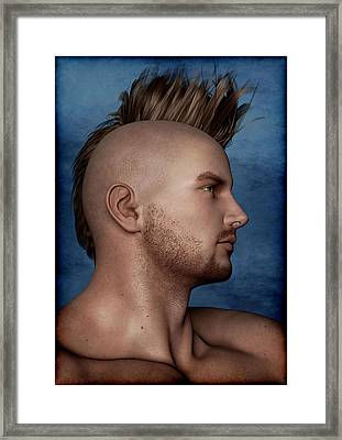 Framed Print featuring the painting Warrior Portrait by Maynard Ellis