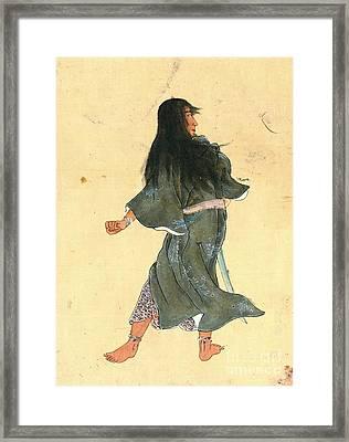 Warrior With Bracelets 1800 Framed Print by Padre Art