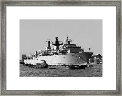 Warship Hms Bulwark Framed Print by Jasna Buncic
