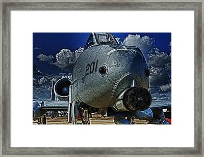 Framed Print featuring the photograph Warthog by Travis Burgess