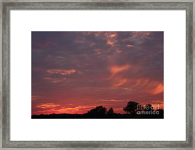 Warwickshire Sunset Framed Print by Linsey Williams