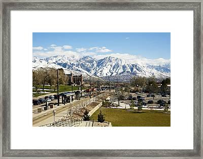 Wasatch Mountain Range Framed Print by Marilyn Hunt