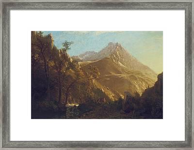 Wasatch Mountains Framed Print by Albert Bierstadt