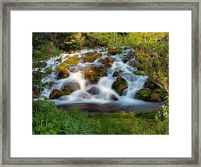 Wasatch Range Cascade Framed Print