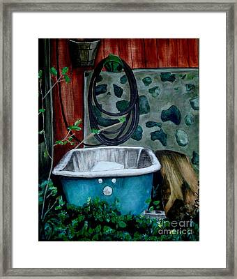 Wash Before Entering Framed Print