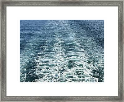 Wash Behind A Cross-channel Ferry Framed Print by Adrian Bicker