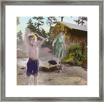Wash Day Framed Print by Charles Shoup