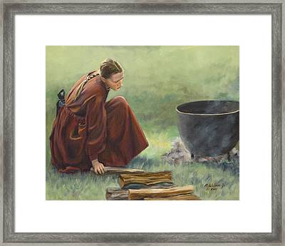 Framed Print featuring the painting Wash Day I by Karen Wilson