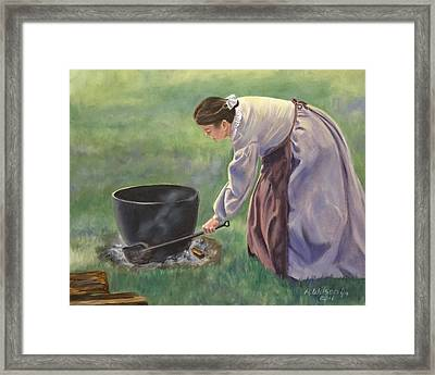 Framed Print featuring the painting Wash Day II by Karen Wilson