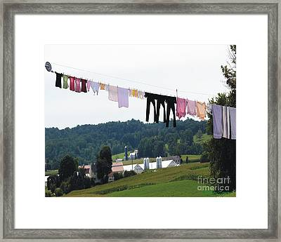 Wash Day Framed Print by Lorraine Louwerse