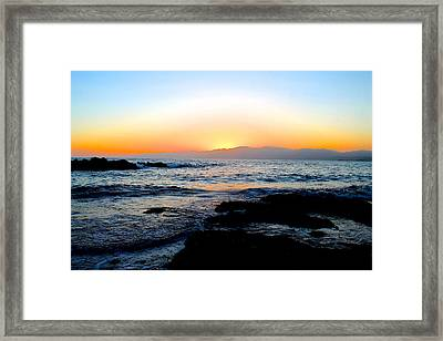 Washed Away Framed Print by Alexander Martinez