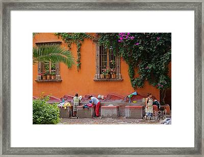 Framed Print featuring the photograph Washer Women - Mexico by Craig Lovell