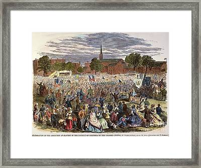 Washington: Abolition, 1866 Framed Print by Granger