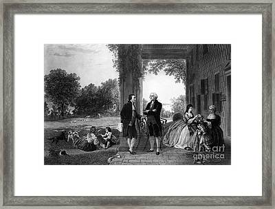 Washington And Lafayette, Mount Vernon Framed Print by Library of Congress