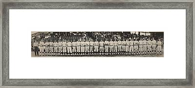 Washington Baseball Team, Schutz Group Framed Print by Everett