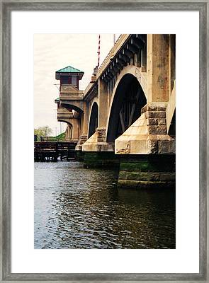 Framed Print featuring the photograph Washington Bridge by John Scates