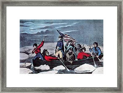 Washington Crossing The Delaware, 1776 Framed Print