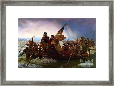 Washington Crossing The Delaware Framed Print by Pg Reproductions