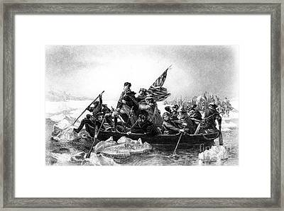 Washington Crossing The Delaware Framed Print by Photo Researchers