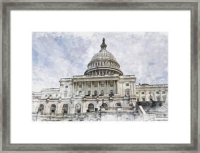 Washington Dc Capitol Hill Framed Print by Brandon Bourdages
