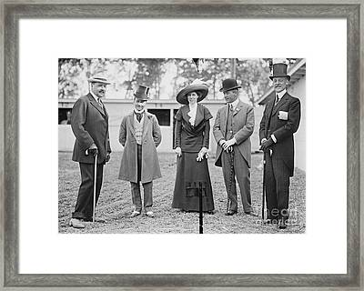 Washington Dc Horse Show Spectators 1911 Framed Print by Padre Art
