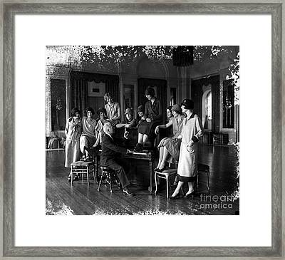 Washington Debutantes Rehearsing Framed Print