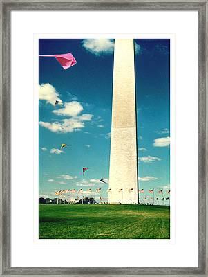 Washington Monument 1982 Framed Print by Noah Brooks