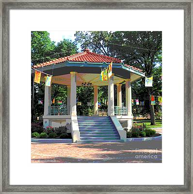 Washington Park Bandstand Framed Print by Jennifer Kelly