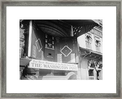 Washington Post Sponsored Scoreboard Framed Print by Everett