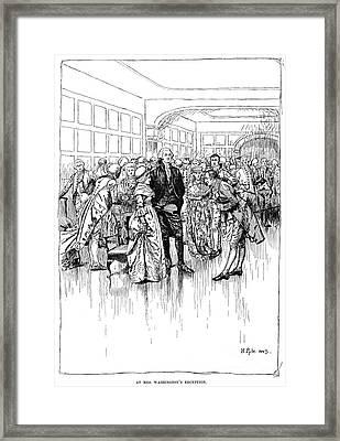 Washington Reception Framed Print